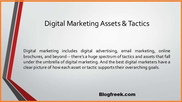 Digital Marketing Assets and Tactics