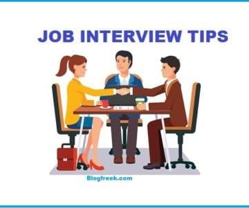 Job Interview Tips