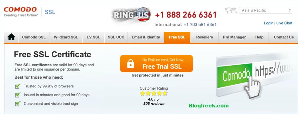 Comodo Free SSL Image